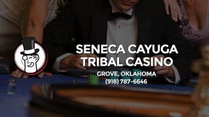 Casino & gambling-themed header image for Barons Bus Charter service to Seneca Cayuga Tribal Casino in Grove, Oklahoma. Please call 9187876646 to contact the casino directly.)