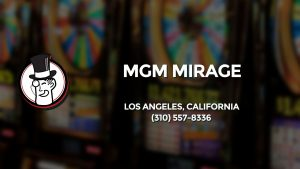 Casino & gambling-themed header image for Barons Bus Charter service to Mgm Mirage in Los Angeles, California. Please call 3105578336 to contact the casino directly.)