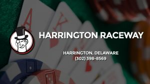 Casino & gambling-themed header image for Barons Bus Charter service to Harrington Raceway in Harrington, Delaware. Please call 3023988569 to contact the casino directly.)