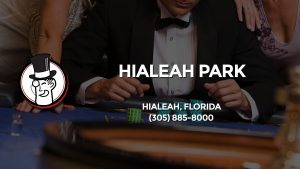 Casino & gambling-themed header image for Barons Bus Charter service to Hialeah Park in Hialeah, Florida. Please call 3058858000 to contact the casino directly.)