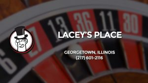 Casino & gambling-themed header image for Barons Bus Charter service to Lacey's Place in Georgetown, Illinois. Please call 2176012116 to contact the casino directly.)
