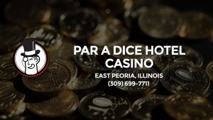 Casino & gambling-themed header image for Barons Bus Charter service to Par A Dice Hotel Casino in East Peoria, Illinois. Please call 3096997711 to contact the casino directly.)