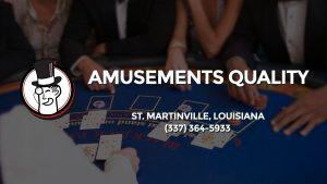 Casino & gambling-themed header image for Barons Bus Charter service to Amusements Quality in St. Martinville, Louisiana. Please call 3373645933 to contact the casino directly.)