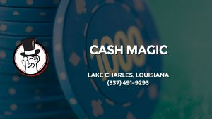 Casino & gambling-themed header image for Barons Bus Charter service to Cash Magic in Lake Charles, Louisiana. Please call 3374919293 to contact the casino directly.)
