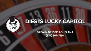 Casino & gambling-themed header image for Barons Bus Charter service to Diesi's Lucky Capitol in Breaux Bridge, Louisiana. Please call 3376677150 to contact the casino directly.)