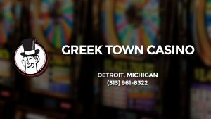 Casino & gambling-themed header image for Barons Bus Charter service to Greek Town Casino in Detroit, Michigan. Please call 3139618322 to contact the casino directly.)