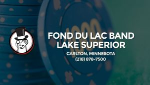 Casino & gambling-themed header image for Barons Bus Charter service to Fond Du Lac Band Lake Superior in Carlton, Minnesota. Please call 2188787500 to contact the casino directly.)
