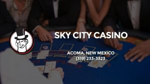 Casino & gambling-themed header image for Barons Bus Charter service to Sky City Casino in Acoma, New Mexico. Please call 3192333323 to contact the casino directly.)