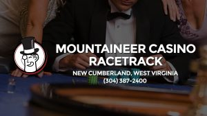 Casino & gambling-themed header image for Barons Bus Charter service to Mountaineer Casino Racetrack in New Cumberland, West Virginia. Please call 3043872400 to contact the casino directly.)