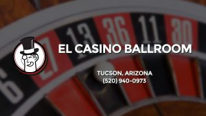 Casino & gambling-themed header image for Barons Bus Charter service to El Casino Ballroom in Tucson, Arizona. Please call 5209400973 to contact the casino directly.)