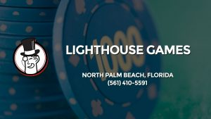 Casino & gambling-themed header image for Barons Bus Charter service to Lighthouse Games in North Palm Beach, Florida. Please call 5614105591 to contact the casino directly.)