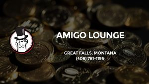 Casino & gambling-themed header image for Barons Bus Charter service to Amigo Lounge in Great Falls, Montana. Please call 4067611195 to contact the casino directly.)