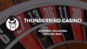 Casino & gambling-themed header image for Barons Bus Charter service to Thunderbird Casino in Shawnee, Oklahoma. Please call 4053959655 to contact the casino directly.)