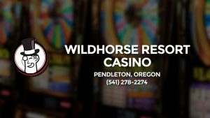 Casino & gambling-themed header image for Barons Bus Charter service to Wildhorse Resort Casino in Pendleton, Oregon. Please call 5412782274 to contact the casino directly.)