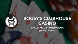 Casino & gambling-themed header image for Barons Bus Charter service to Bogey's Clubhouse Casino in Sioux Falls, South Dakota. Please call 6053739662 to contact the casino directly.)