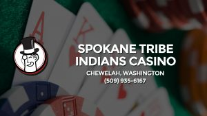 Casino & gambling-themed header image for Barons Bus Charter service to Spokane Tribe Indians Casino in Chewelah, Washington. Please call 5099356167 to contact the casino directly.)