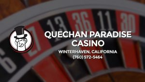 Casino & gambling-themed header image for Barons Bus Charter service to Quechan Paradise Casino in Winterhaven, California. Please call 7605725464 to contact the casino directly.)