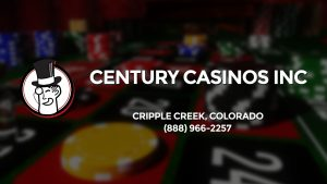 Casino & gambling-themed header image for Barons Bus Charter service to Century Casinos Inc in Cripple Creek, Colorado. Please call 8889662257 to contact the casino directly.)