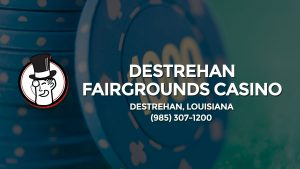 Casino & gambling-themed header image for Barons Bus Charter service to Destrehan Fairgrounds Casino in Destrehan, Louisiana. Please call 9853071200 to contact the casino directly.)