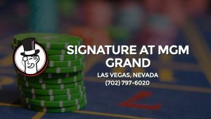 Casino & gambling-themed header image for Barons Bus Charter service to Signature At Mgm Grand in Las Vegas, Nevada. Please call 7027976020 to contact the casino directly.)