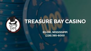 Casino & gambling-themed header image for Barons Bus Charter service to Treasure Bay Casino in Biloxi, Mississippi. Please call 2283856000 to contact the casino directly.)