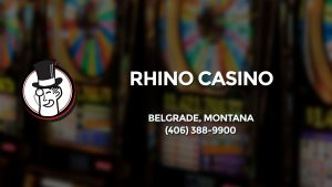 Casino & gambling-themed header image for Barons Bus Charter service to Rhino Casino in Belgrade, Montana. Please call 4063889900 to contact the casino directly.)