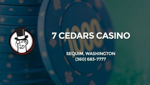Casino & gambling-themed header image for Barons Bus Charter service to 7 Cedars Casino in Sequim, Washington. Please call 3606837777 to contact the casino directly.)