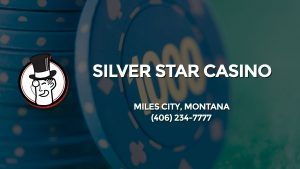 Casino & gambling-themed header image for Barons Bus Charter service to Silver Star Casino in Miles City, Montana. Please call 4062347777 to contact the casino directly.)