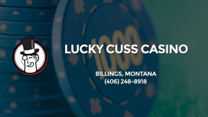 Casino & gambling-themed header image for Barons Bus Charter service to Lucky Cuss Casino in Billings, Montana. Please call 4062488918 to contact the casino directly.)