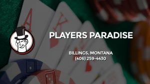 Casino & gambling-themed header image for Barons Bus Charter service to Players Paradise in Billings, Montana. Please call 4062594430 to contact the casino directly.)