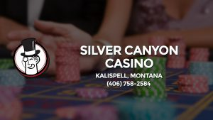 Casino & gambling-themed header image for Barons Bus Charter service to Silver Canyon Casino in Kalispell, Montana. Please call 4067582584 to contact the casino directly.)