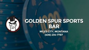 Casino & gambling-themed header image for Barons Bus Charter service to Golden Spur Sports Bar in Miles City, Montana. Please call 4062347787 to contact the casino directly.)