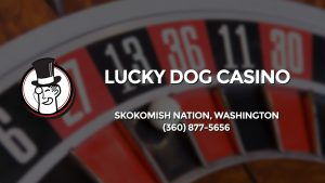 Casino & gambling-themed header image for Barons Bus Charter service to Lucky Dog Casino in Skokomish Nation, Washington. Please call 3608775656 to contact the casino directly.)