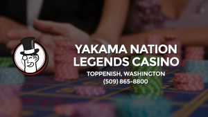 Casino & gambling-themed header image for Barons Bus Charter service to Yakama Nation Legends Casino in Toppenish, Washington. Please call 5098658800 to contact the casino directly.)