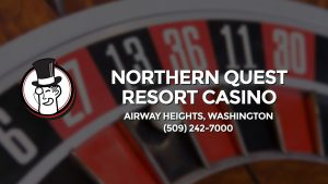 Casino & gambling-themed header image for Barons Bus Charter service to Northern Quest Resort Casino in Airway Heights, Washington. Please call 5092427000 to contact the casino directly.)
