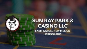Casino & gambling-themed header image for Barons Bus Charter service to Sun Ray Park & Casino Llc in Farmington, New Mexico. Please call 5055661200 to contact the casino directly.)