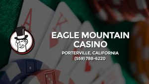 Casino & gambling-themed header image for Barons Bus Charter service to Eagle Mountain Casino in Porterville, California. Please call 5597886220 to contact the casino directly.)