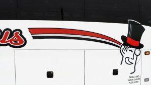 barons bus passenger side logo right