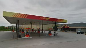 Decature McClure Gas Station bus stop | Barons Bus