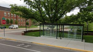 Oxford Miami University bus stop near Shriver Center | Barons Bus