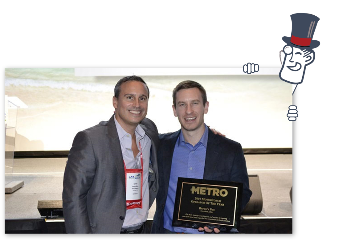 barons bus 2019 metro magazine motorcoach operator of the year