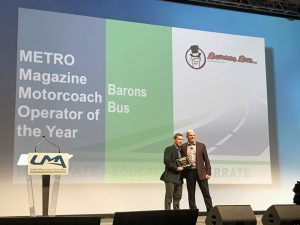 barons bus award 2019 metro magazine motorcoach operator of the year pat goebel bg
