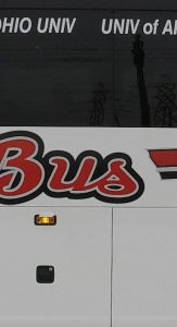 Barons Bus College Connection bus close up slice 03