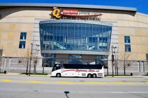 barons bus in front of quicken loans arena
