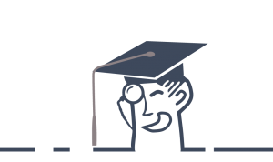 barons bus logo college graduation cap
