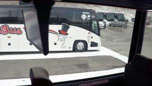 barons bus logo exterior from interior