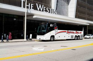 barons bus parked in front of the westin