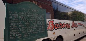 barons bus tour operators historical sun records sign