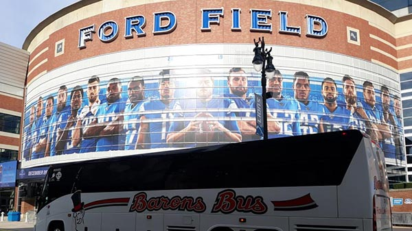 charter bus detroit michigan attractions ford field