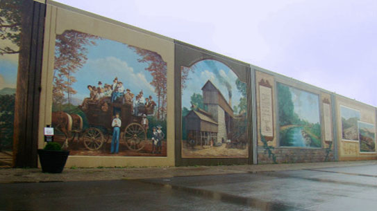 charter bus portsmouth ohio attractions portsmouth floodwall mural